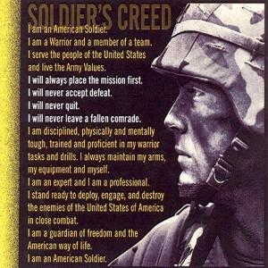 Soldier's Creed (Photo credit: http://1.bp.blogspot.com/_AYomJRm9dwY ...
