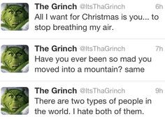 The Grinch. #funny #thegrinch #christmas More