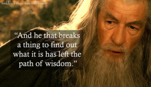 ... to Saruman, The Fellowship of the Ring, Book II, The Council of Elrond