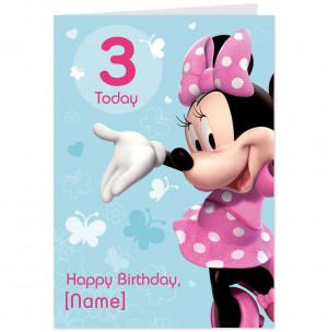 Minnie Mouse Birthday Age 3-Hallmark UK