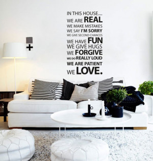 Family Rooms - vinyl wall quotes