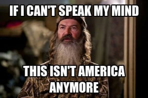One Response to Duck Dynasty and the Intolerance of the Left