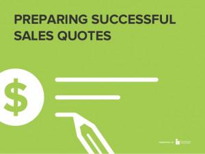 Preparing Successful Sales Quotes