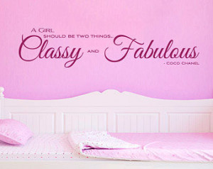 Classy and Fabulous by Coco Chanel Girl Wall Quotes - Inspirational ...