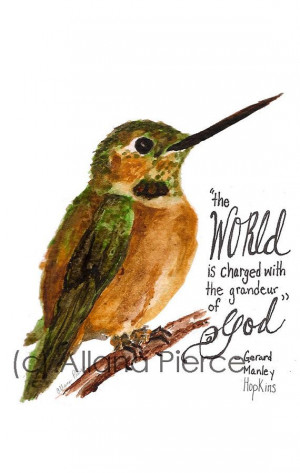 ... quote by Gerard Manley Hopkins- Prints sold in Etsy shop Addicted to