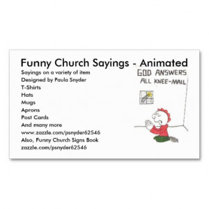 Funny Church Sayings - Animated, Say... Double-Sided Standard Business ...