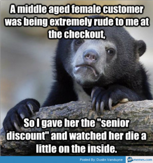middle ages customer was being rude