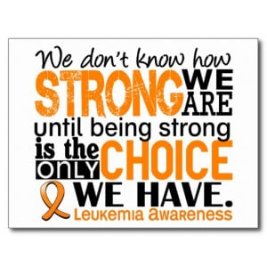 Leukemia How Strong We Are Postcard