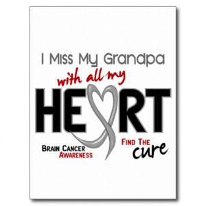 Brain Cancer I MISS MY GRANDPA Post Cards