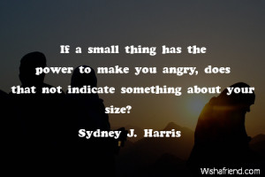 anger-If a small thing has the power to make you angry, does that not ...