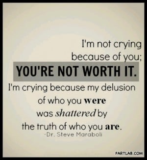 You're not worth it...