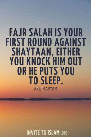 the importance of fajr