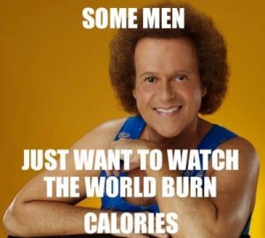 Richard Simmons. I exercised along to his show before school as a 12 ...