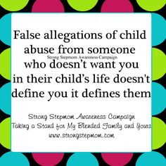 My husband's ex wife falsely accused me of child abuse just to get me ...
