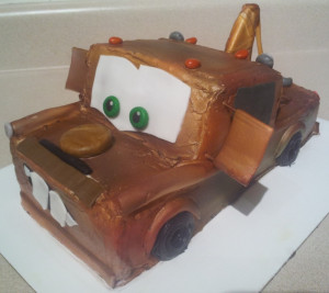 Disney's Cars Tow Mater cake!