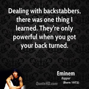 backstabber family quotes