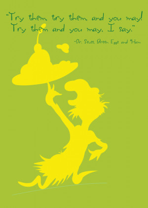 Dr. Seuss Green Eggs and Ham Quote Silhouette