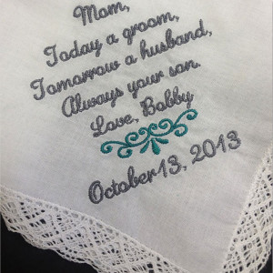... tears … Get this item right now at: Mother of the Groom Handkerchief