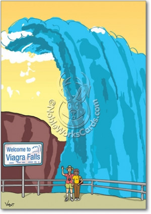 Viagra Falls Funny Anniversary Card Nobleworks