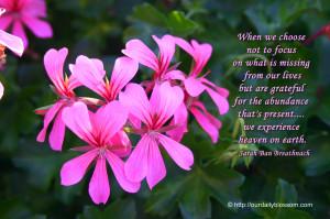 Spiritual Quote – Sarah Ban Breathnach