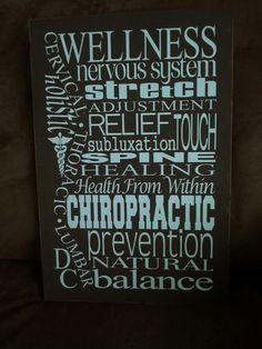 Chiropractic Subway Art
