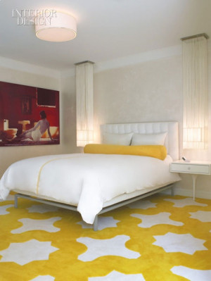 Laurie Simmons's photograph dominates a guest room. Design by Cherie ...