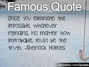 Sherlock Holmes Quote Love