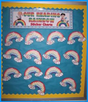 Reading Rainbow Sticker Chart