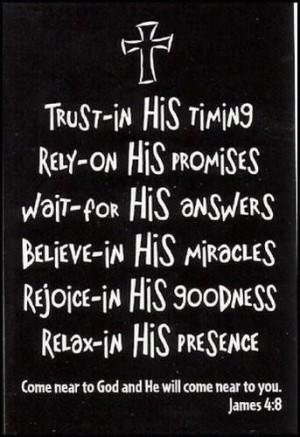 Refreshing to know we have a God we can fully trust.