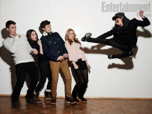 Gabriel Basso, Alison Brie, Nick Robinson, Erin Moriarty, and Moises ...