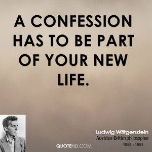 confession has to be part of your new life.