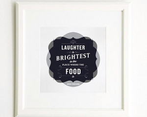 Typographic Food Poster, Art Print, Food Quotes, Kitchen Art, Square ...