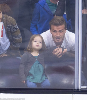 Daddy's girl: David Beckham has joked that he would be reluctant to ...