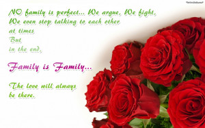 family reunion quotes wallpaper which says no family is perfect we ...