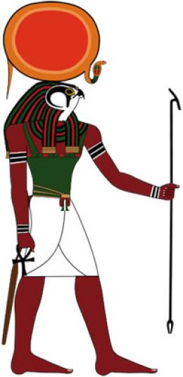 God Ra is recognized with Disk of Sun for a headdress. Ra the Sun ...