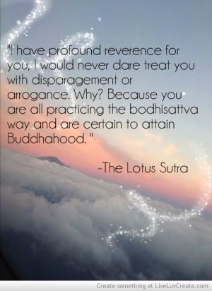 Lotus Sutra Quote