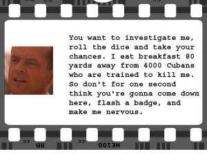 Few Good Men | Colonel Jessep (Jack Nicholson) | Screenplay: Aaron ...