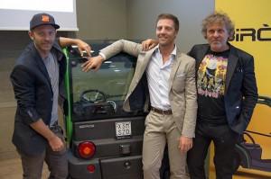 Da sinistra: Stefano Rosso, una Birò, Matteo Maestri e Renzo Rosso
