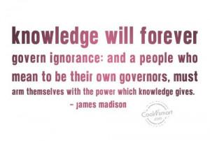 Ignorant Quotes About Men Ignorance quote: knowledge