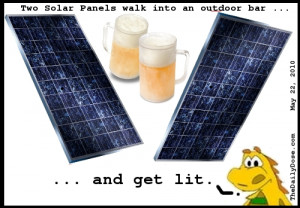 CAUTION: this solar panel bar joke might make you drink light beer.