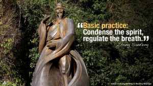 Basic practice: Condense the spirit, regulate the breath. -- Zhang ...