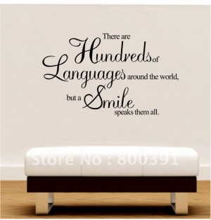 Smile Pictures And Quotes Gallery: Hundreds Language Just Need One ...