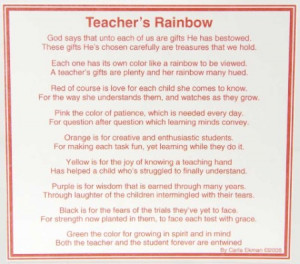 Poems For Teachers