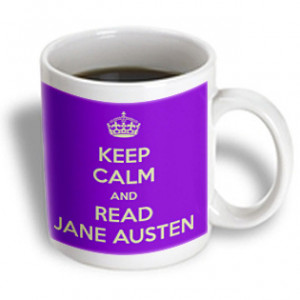3dRose -- EvaDane - Funny Quotes - Keep calm and read Jane Austin ...