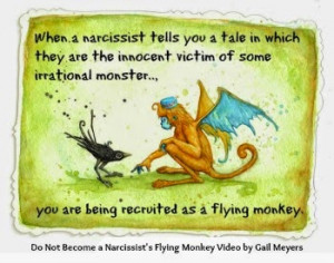 narcissist s flying monkey video by gail meyers a narcissistic ...