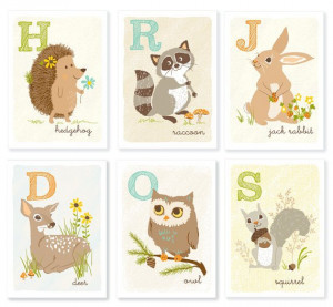cute woodland animals