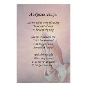NURSES PRAYER - Inspirational poem for the nursing and care industry