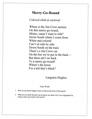 Langston Hughes Merry Go Round Give Me Poems By Langston Hughes