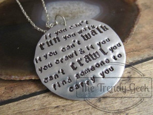Firefly Inspired Motivational Quote Necklace by TheTrendyGeek, $28.00