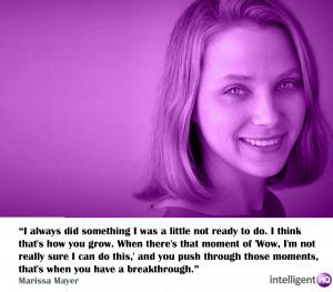 Quote by Marissa Mayer. Intelligenthq